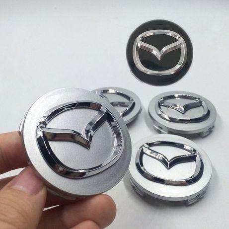 Колпачки на диски Mazda 56мм 2 3 5 6 gg gh cx5 cx7 cx9 miata mpv xedos