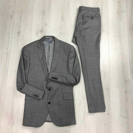 Костюм полушерстяной приталенный пиджак/зауженные брюки Taylor&Wright