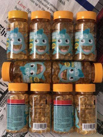 Рыбий жир для детей Омега 3 Biopharma Trippel OMEGA 3 Норвегия