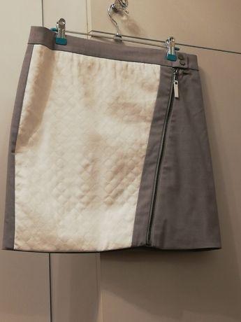 Fantastyczna spódnica Mohito mini eko-skóra zamek rozm. 40 jak nowa