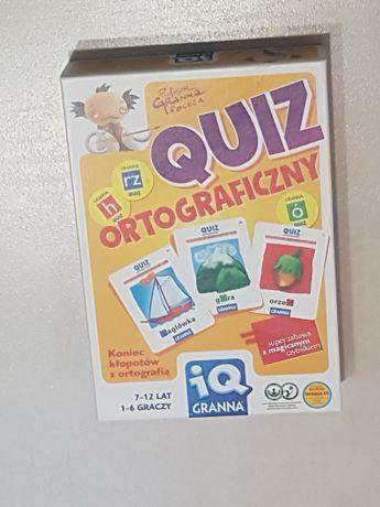 """Gra planszowa / edukacyjna """"quiz ortograficzny"""" - wysyłka za darmo"""