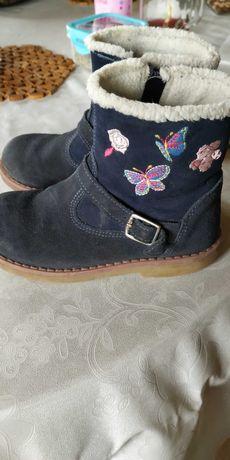 Buty dla dziewczynki jesienno zimowe rozmiar 27
