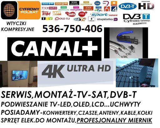 Antena Sat INVERTO 80 Montaż-Ustawianie-Serwis Anten NC+ ,POLSAT ,ORAN