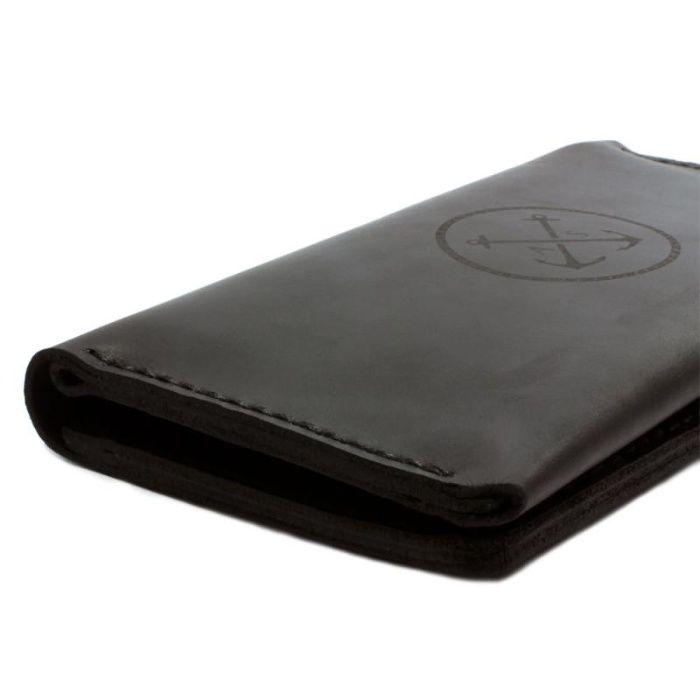 Мужское кожаное портмоне T-Case — чёрный Киев - изображение 1