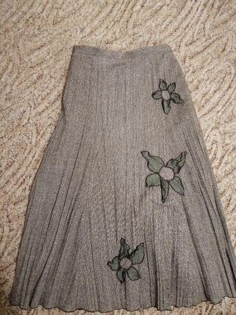 Damska spódnica 42, brąz, wysoka jakość