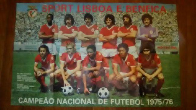 Poster Benfica Campeão Nacional 75/76 (raro)