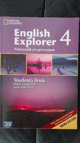 English Explorer 4, komplet, podręcznik + ćwiczenia + DVD, jak NOWE