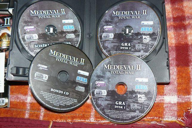 Gra PC w opakowaniu prezent święta 4 płytowa Medieval II Total War
