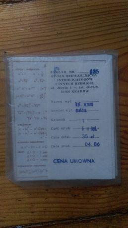 Komplet Wzorów Matematycznych z 04.1986 roku PRL
