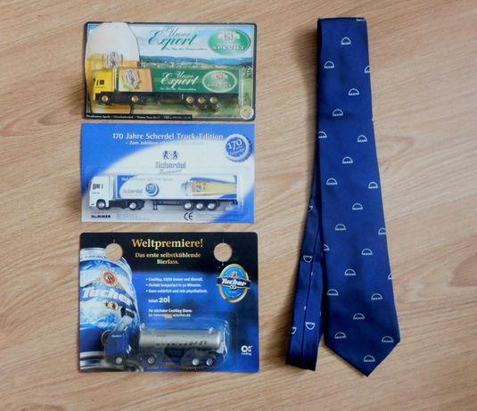 Jedwabny krawat logo MAN + 3 Truck, LKW, TIR reklama piwa
