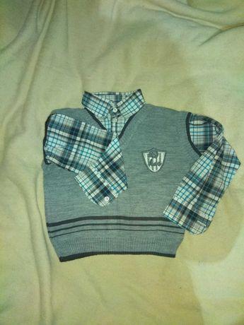 Рубашка-обманка с жилетом для мальчика