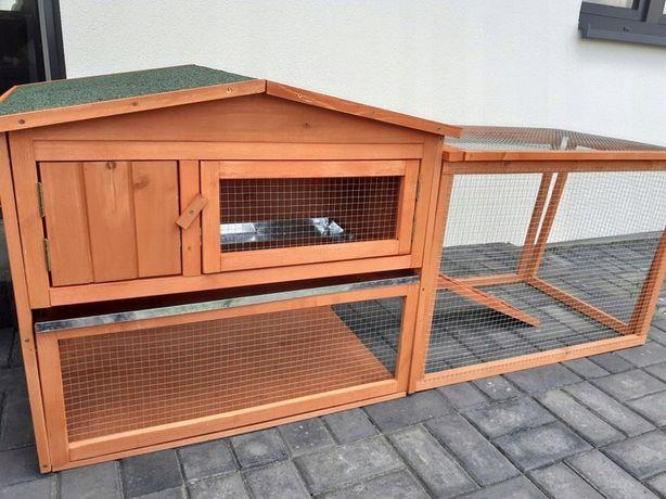 KURNIK Kklatka dla królików z wybiegiem DREWNIANA