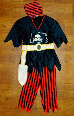 карнавальный костюм 9-10 лет Пират Tesco с головным убором