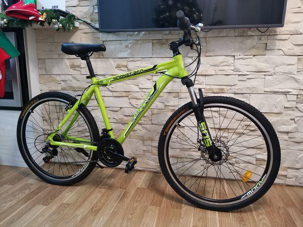 Nowy aluminiowy rower górski. Koła 26. Amortyzator. Hamulec tarczowy
