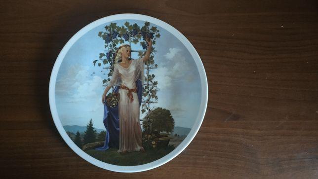 Чеський фарфор тарілка Чехія сувенірна колекційна настінна