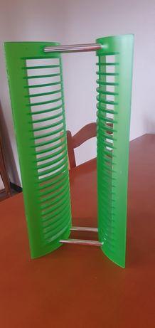 Prateleira verde plástico