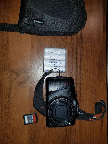 Aparat Canon SX130 IS + karta Sandisk 4GB + komplet akumulatorów
