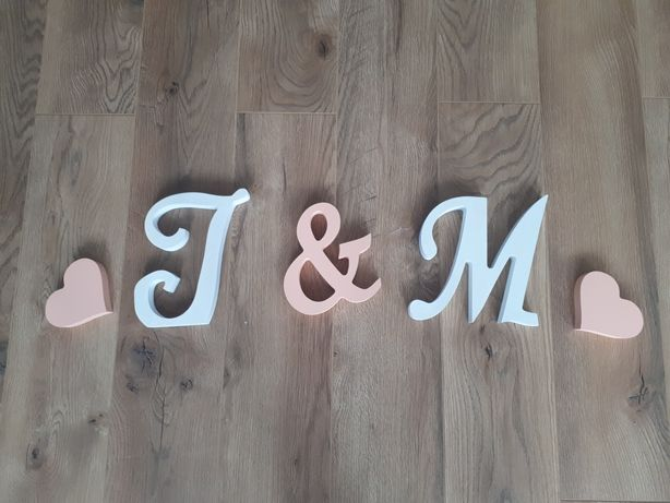 Literki dekoracja ślubna