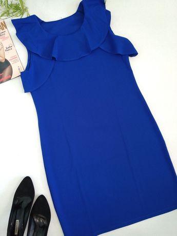 Роскошное синее женское платье