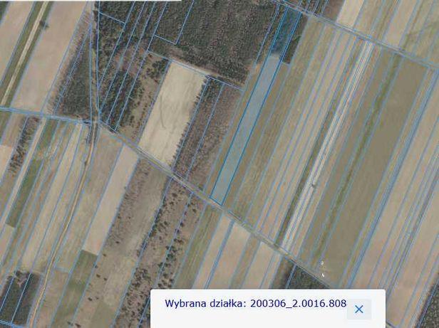 2,5 ha Ziemia rolna orna/las klasa IVa-VI okolice wsi Toporki