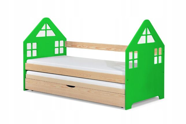 Nowe podwójne łóżko Domek solidnie wykonane!