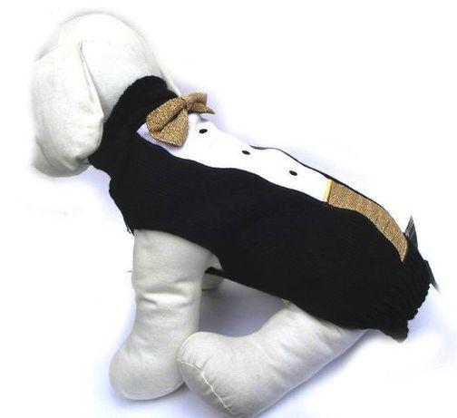 Prom8cja ! Elegancki sweterek dla psa SMOKING rozmiar XS