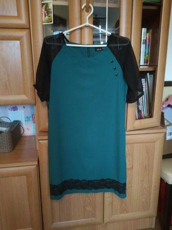 Sukienka, kolor butelkowa zieleń r. M (38)