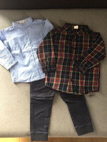 Ubranka (spodnie, koszula H&M) r. 92 święta