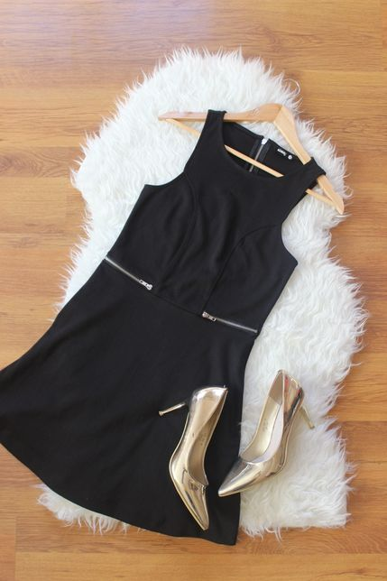 Sukienka sinsay czarna M 38 z suwakami