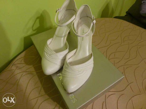 Buty ślubne białe!