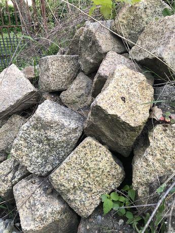 Kostka brukowa , kostka granitowa z rozbiórki około 10 ton