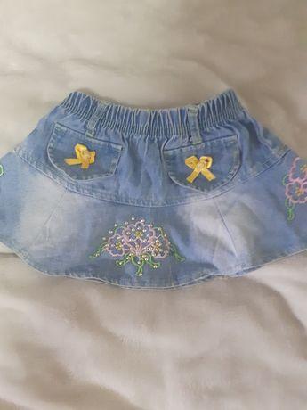 Юбка джинсовая на 1 год