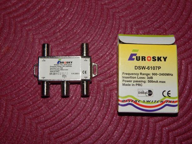 Адаптер ресивер тюнер коммутатор для спутниковой тарелки + комплект