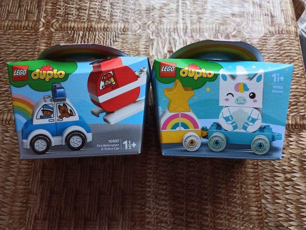 LEGO DUPLO My First машина и вертолет +My First Единорог
