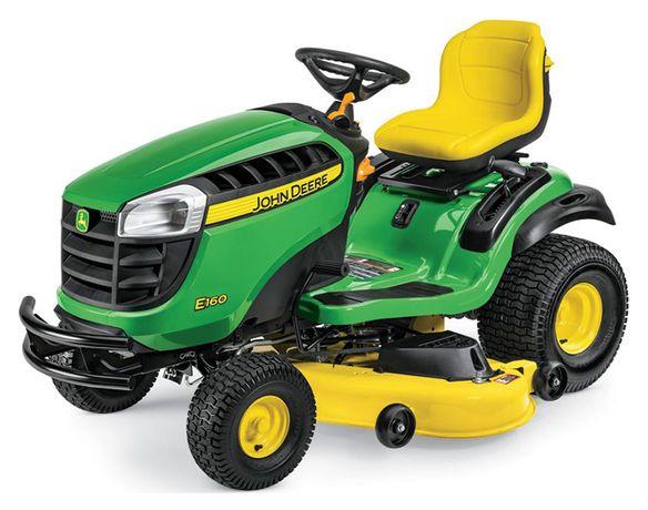 Nowy traktor kosiarka John Deere E160 24km+Kosz+Przyczepka