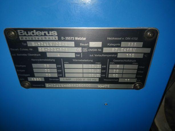 Kocioł gazowy Buderus G-124LV 20kW, sterownik HS 2102 SO