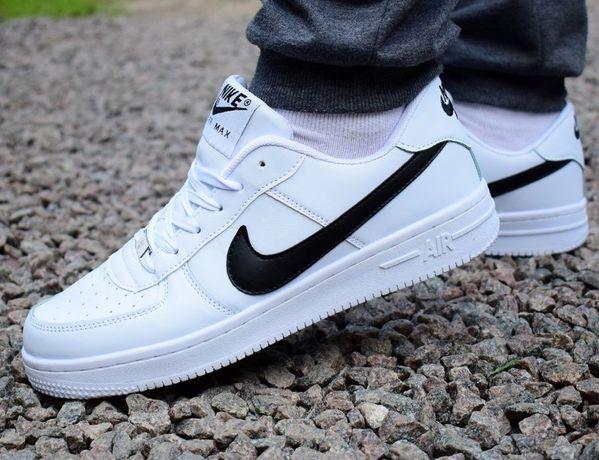 Мужские кроссовки Nike Air Force low черные Найк Аир Форс Air Max кеды