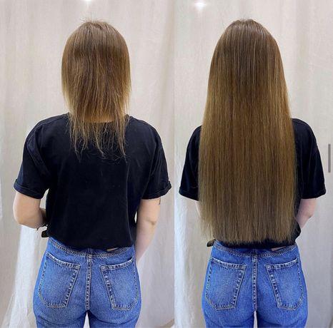 Наращивание волос микро капсулами