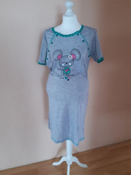 Koszula do karmienia, koszula nocna ciążowa, zapinana na guziki, S-XXL