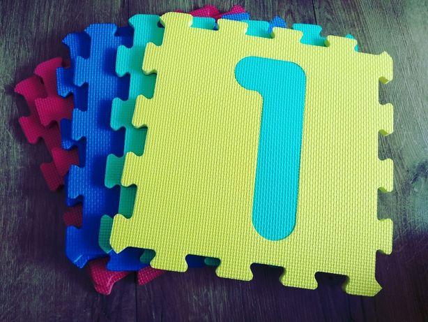Puzzle piankowe dla dzieci cyfry