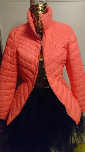 Kurtka wiosenna neon pomarańcz