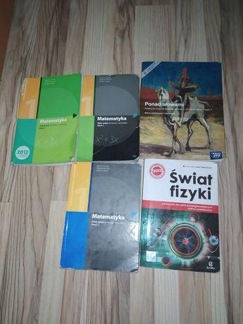 Podręczniki szkolne, książki do d szkoły, matematyka, fizyka, polski
