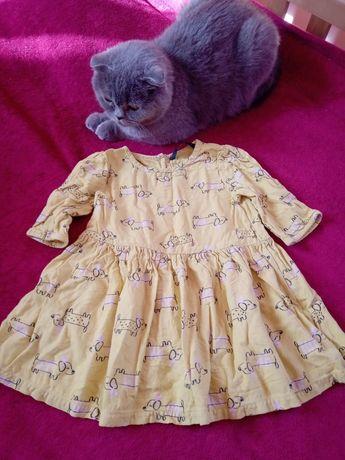 Платье 3/4 рукав George собачки 86 см
