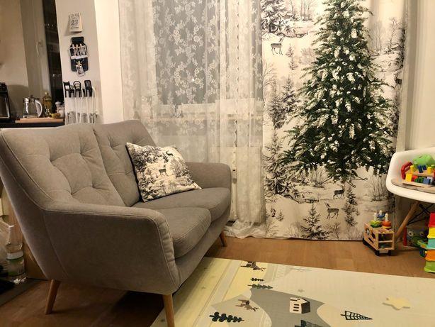 Sofa scandi szara dąb natura galla collezione meble Agata