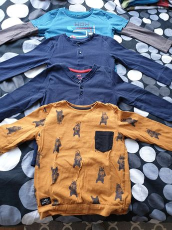 4 bluzki na długi rękaw Reserved, H&M rozm.104