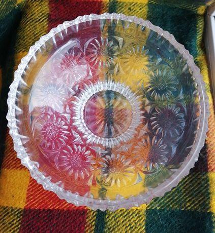 Хрустальная тарелка большая