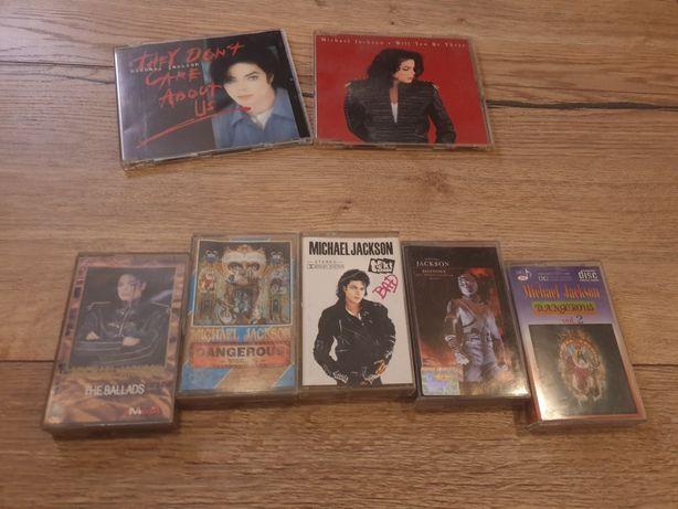 Zestaw Michael Jackson kasety i plyty