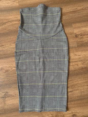 Spódnica H&M mama S 36 ciążowa w kratkę pepitkę ołówkowa do kolan