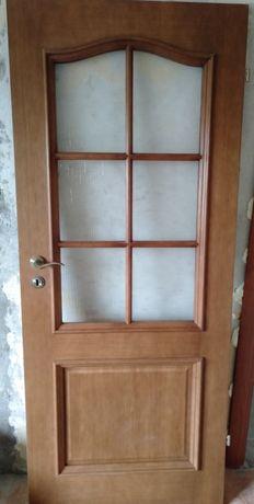 Drzwi drewniane dębowe 202x80