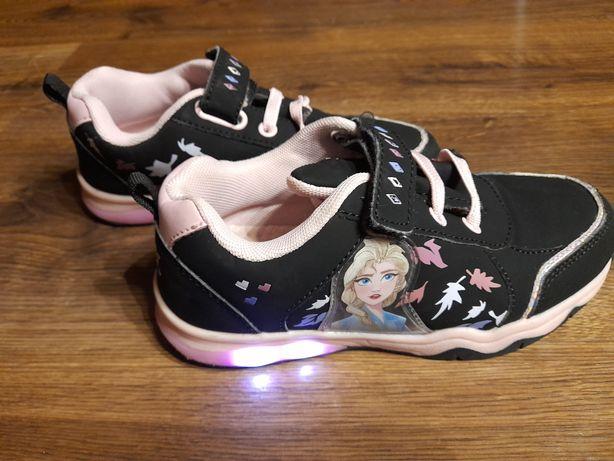 Buty dziewczęce czarno-różowe r.32 FROZEN, ELSA, Kraina Lodu